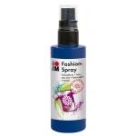 Marabu Fashion Spray Night Blue 100ml: Blue, Bottle, 100 ml, Fabric, (model M17199050293), price per each