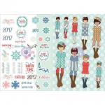 Prima - Julie Nutting Planner -  Monthly Stickers - 2 Pack - August
