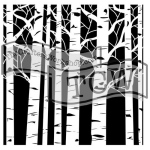The Crafters Workshop - Stencil - Aspen Trees - 12x12