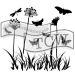 The Crafters Workshop - Stencil - Butterfly Meadow - 12x12