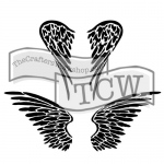 The Crafters Workshop - Stencil - Angel Wings - 6x6
