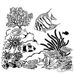 The Crafters Workshop - Stencil - Aquarium - 6x6