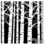 The Crafters Workshop - Stencil - Aspen Trees - 6x6