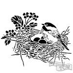 The Crafters Workshop - Stencil - Bird Nest - 6x6