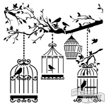 The Crafters Workshop - Stencil - Birds of a Feather - 6x6