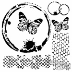 The Crafters Workshop - Stencil - Butterfly Collage - 6x6