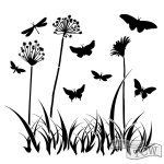The Crafters Workshop - Stencil - Butterfly Meadow - 6x6