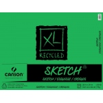"Canson® XL® 18"" x 24"" Recycled Sketch 50-Sheet Pad (Fold Over): Fold Over, White/Ivory, Pad, 50 Sheets, 18"" x 24"", Medium, (model C100510924), price per 50 Sheets pad"