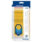 Staedtler® Woodcased Pencils 48-Set: Black/Gray, HB, 48, Drawing, (model 13247C-48), price per 48 box