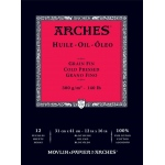 "Arches® 12"" x 16"" Oil Paper 12-Sheet Pad, (model 1795109), price per pad"
