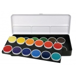 Finetec Watercolor Paint Transparent 24-Color Set: Multi, Pan, Watercolor, (model LT24), price per set