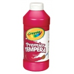 Crayola® Premier Tempera Paint 16oz Red: Red/Pink, Bottle, 16 oz, Tempera, (model 54-1216-038), price per each
