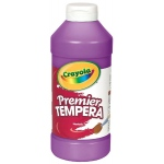 Crayola® Premier Tempera Paint 16oz Purple: Purple, Bottle, 16 oz, Tempera, (model 54-1216-040), price per each