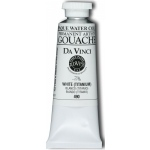 Da Vinci Artists' Gouache Opaque Watercolor 37ml Titanium White: White/Ivory, Tube, 37 ml, Gouache, Watercolor, (model DAV490), price per tube