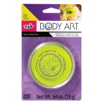Tulip® Body Art™ Neon Yellow Paint: Yellow, Jar, 18 g, (model D28818), price per each