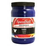 Speedball® Fabric Screen Printing Ink Cyanine : Blue, Jar, Fabric, 32 oz, Screen Printing, (model 45750), price per each