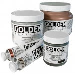 Golden® Heavy Body Iridescent Acrylic 4 oz. Alumina (coarse): Metallic, Jar, 118 ml, 4 oz, Acrylic, (model 0004082-4), price per each