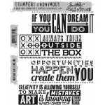 Stampers Anonymous - Tim Holtz - Motivation 1 Stamp Set