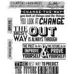 Stampers Anonymous - Tim Holtz - Motivation 2 Stamp Set