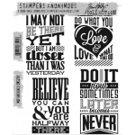 Stampers Anonymous - Tim Holtz - Motivation 3 Stamp Set