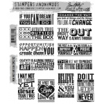 Stampers Anonymous - Tim Holtz - Mini Motivation Stamp Set