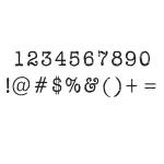 Ken Oliver - Pegz - Numbers & Symbols Stamp Set - Medium