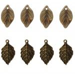 Maya Road - Ken Oliver - Vintage - Leaf Charms