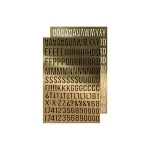 Advantus - Tim Holtz - Ideaology - Metallic Stickers - Apha Gold
