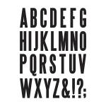 Advantus - Tim Holtz - Ideaology - Cling Foam Stamps - Block Upper