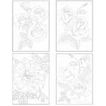 Canvas Corp - Ken Oliver - Color a Card - Rose Garden - 5x7