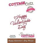 CottageCutz - Happy Valentines Day Phrase Die