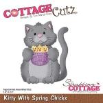 CottageCutz - Kitty With Spring Chicks Die