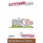 CottageCutz - Spring Bunny With Flowers Die