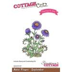 CottageCutz - Aster Flower - September Stamp & Die Set