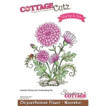 CottageCutz - Chrysanthemum - November Stamp & Die Set