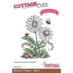 CottageCutz - Daisies - April Stamp & Die Set