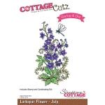 CottageCutz - Larkspur - July Stamp & Die Set