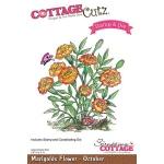 CottageCutz - Marigolds - October Stamp & Die Set