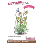 CottageCutz - Narcissus - December Stamp & Die Set