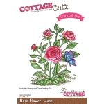 CottageCutz - Rose - June Stamp & Die Set