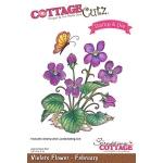 CottageCutz - Violets - February Stamp & Die Set