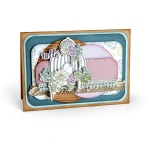 Sizzix - Framelits Die Set 5 Pack with Stamps - Succulent Birdcage by Lynda Kanase