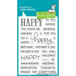 Lawn Fawn - Happy Happy Happy Stamp Set