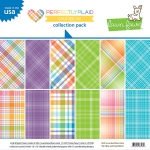 Lawn Fawn - Lawn Fawndamentals - Perfectly Plaid Rainbow - 12x12 Collection Pack