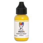 Ranger - Dina Wakley Media - Heavy Body Acrylic Paints - 1 oz Bottled Paints - Lemon
