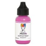 Ranger - Dina Wakley Media - Heavy Body Acrylic Paints - 1 oz Bottled Paints - Magenta