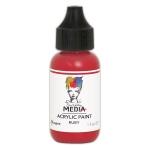 Ranger - Dina Wakley Media - Heavy Body Acrylic Paints - 1 oz Bottled Paints - Ruby