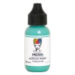 Ranger - Dina Wakley Media - Heavy Body Acrylic Paints - 1 oz Bottled Paints - Turquoise