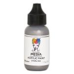Ranger - Dina Wakley Media - Heavy Body Acrylic Paints - 1 oz Bottled Paints - Sterling