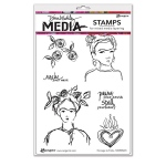 Ranger - Dina Wakley Media - Stamps - Homage to Frida
